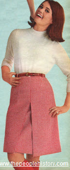 1965 Houndstooth Walking Skirt