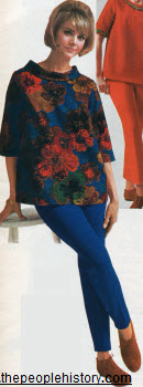 1966 Coordinated Stretch Pants and Maternity Top