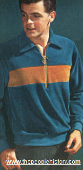 1966 Zipper Neck Velour Shirt
