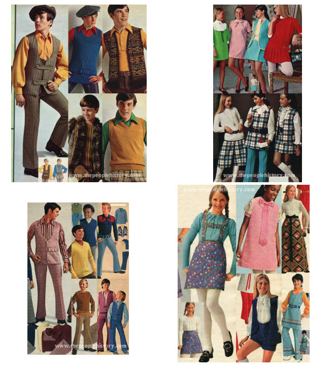 1970's Kids and Teen Clothes from the Seventies including photos ...