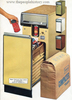 Home Trash Compactor electrical goods and appliances in the 1970s with photos, prices