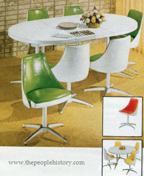 1972 White Contemporary Dinette Set