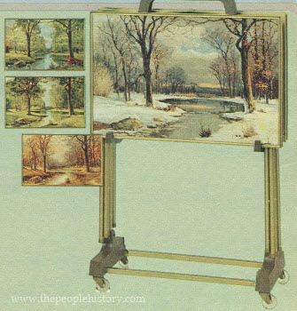 1976 Four Seasons Hardboard Trays