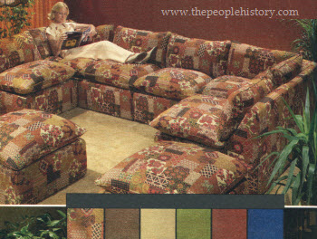 Brown Couch With Ottoman