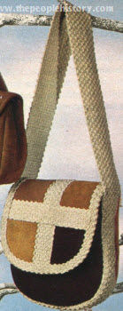 Suede and Cotton Webbing Bag 1972