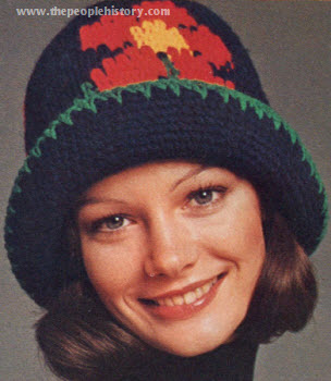 Needle Point Flower Hat 1973