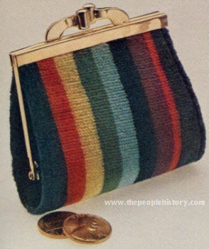 Striped Cotton Velvet Purse 1974