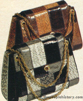 Seventies Fashion Accessories From 1970 Including Shoes