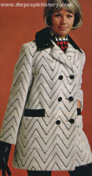 Chevron Pile Pant Coat 1970