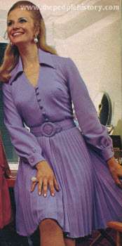 Pleated Shirtdress 1970