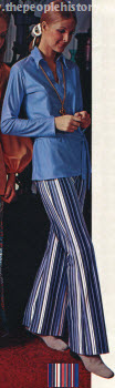 Striped Flare Pant and Tunic 1970