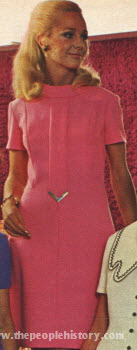 Tab With V Metal Trim Dress 1970
