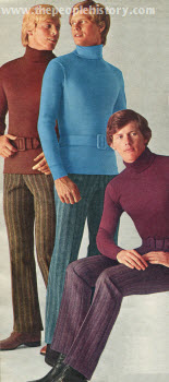 Belted Turtleneck and Flare Jeans 1971