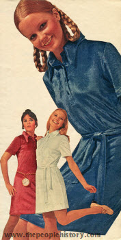 Panne Velvet Shirtdress 1971