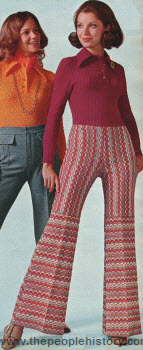 Jacquard Pattern Pants 1972