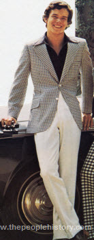 Checked Sport Coat and Polyester Slacks 1973