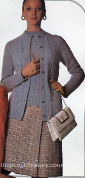 Hadley Cardigan and Skirt 1973