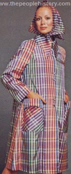 Happy Plaid Rain Coat 1973