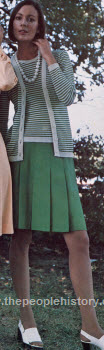 Shamrock and White Stripe Outfit 1973