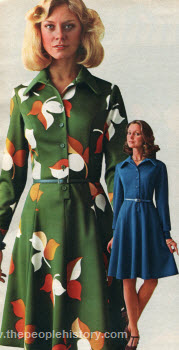 Double Knit Polyester Shirtdress 1975