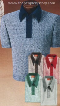 Heather Tone Knit Shirts 1975