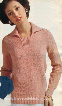 Nubby Texture Pullover 1975