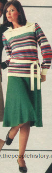 Knit Skirt and Pullover 1976