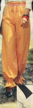 Pants with Ankle Bands 1976