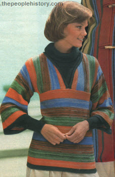 Striped Pullover Sweater 1976