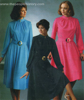 Solid Color Dress 1977