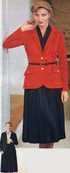 Blazer and Pleated Skirt 1979
