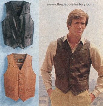 Vest Made of Cowhide 1979