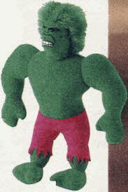 Incredible Hulk Cuddly Plush From The 1980s