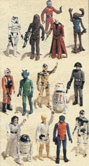 Star Wars Figure Set From The 1980s