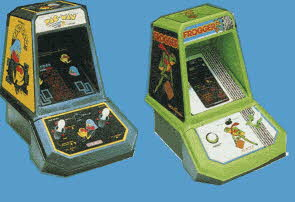Official Pac-Man and Frogger Tabletop Arcade Games From The 1980s