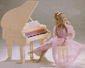 Pink  & Pretty Barbie and Barbie Electronic Piano From The 1980s
