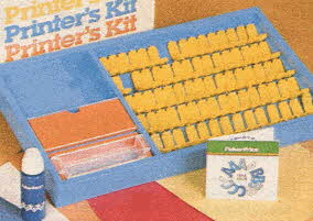 Printer's Kit From The 1980s
