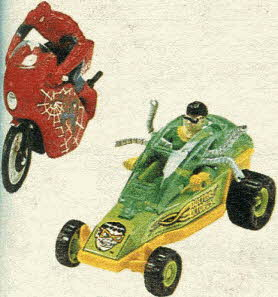 Action Figures on Wheels From The 1980s