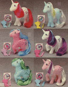 My Little Pony Unicorn and Pegasus From The 1980s