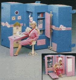 Barbie's Home and Office From The 1980s