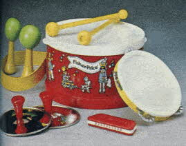 Fisher Price Marching Band Playset From The 1980s