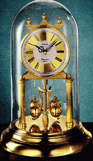 Anniversary Domed Clock with Westminister Chimes
