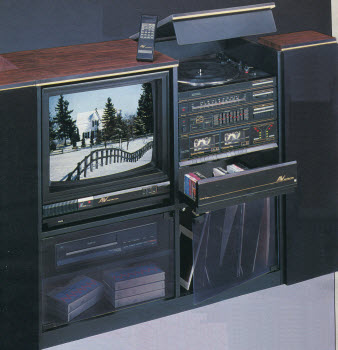 1987 Audio Video Rack System