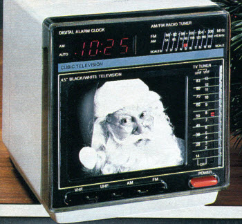 1987 Clock Radio TV