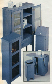 1987 Blue Kitchen Furniture