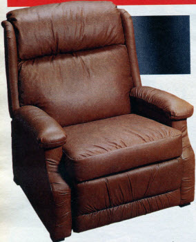 1987 Leather Multi-Position Lounger