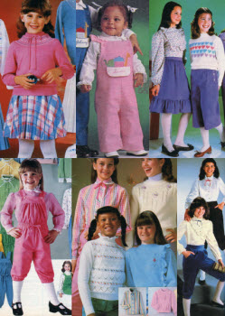 1980s Children's Fashion Part of Our Eighties Fashions Section - photo#1