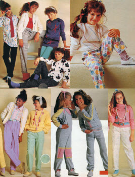 1980s Children's Fashion Part of Our Eighties Fashions Section - photo#6