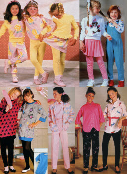 1980s Children's Fashion Part of Our Eighties Fashions Section - photo#5
