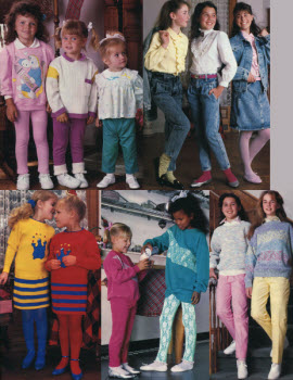 1980s Children's Fashion Part of Our Eighties Fashions Section - photo#8